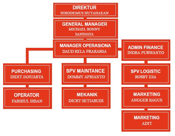 surya trias gemilang - struktur organisasi